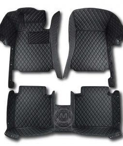 Manicci Luxury Car Floor Mats black with black 1