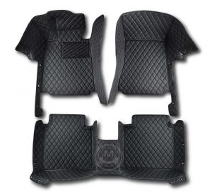 Manicci Luxury Car Floor Mats black with black 1