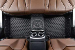 Manicci Luxury Car Floor Mats black with black 2