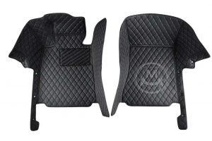 Manicci Luxury Car Floor Mats black with black 6