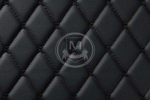 Manicci Luxury Car Floor Mats black with black 7