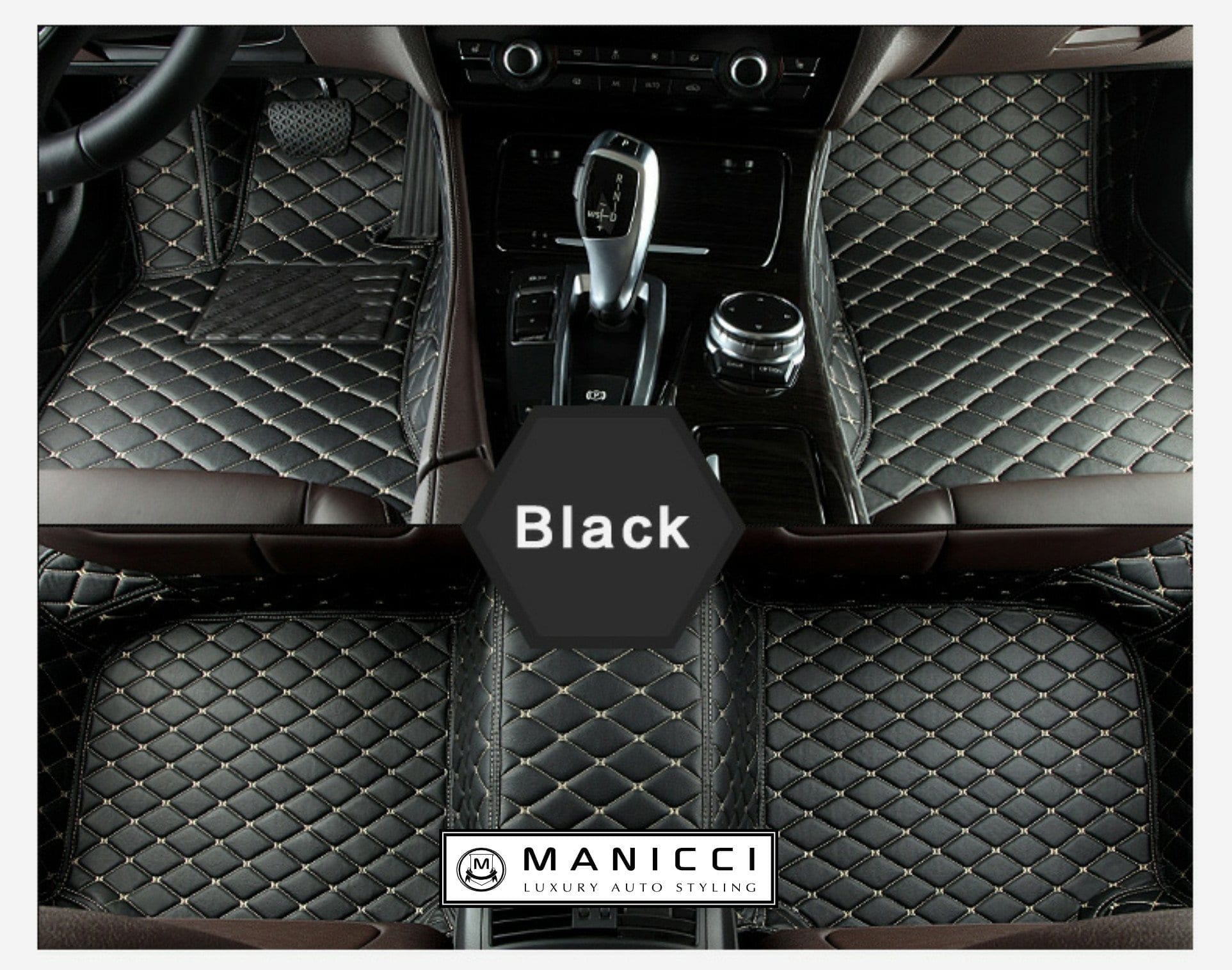 Manicci Luxury Custom Fitted Car Mats Black Diamond