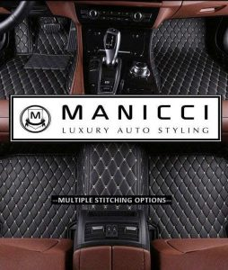 manicci luxury leather car mats black-beige