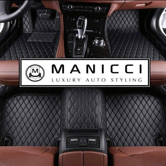 Nylon Carpet Coverking Custom Fit Front Floor Mats for Select Cadillac Allante Models Black
