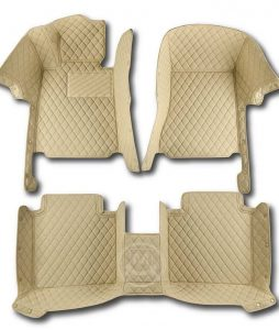 Manicci Luxury Car Floor Mats Beige 1