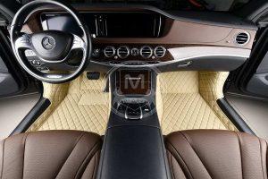Manicci Luxury Car Floor Mats Beige 3