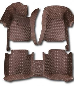 Manicci Luxury Car Floor Mats Dark Brown 1