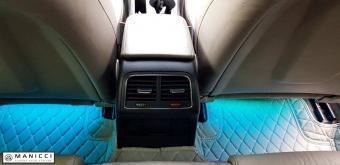 beige luxury car mats
