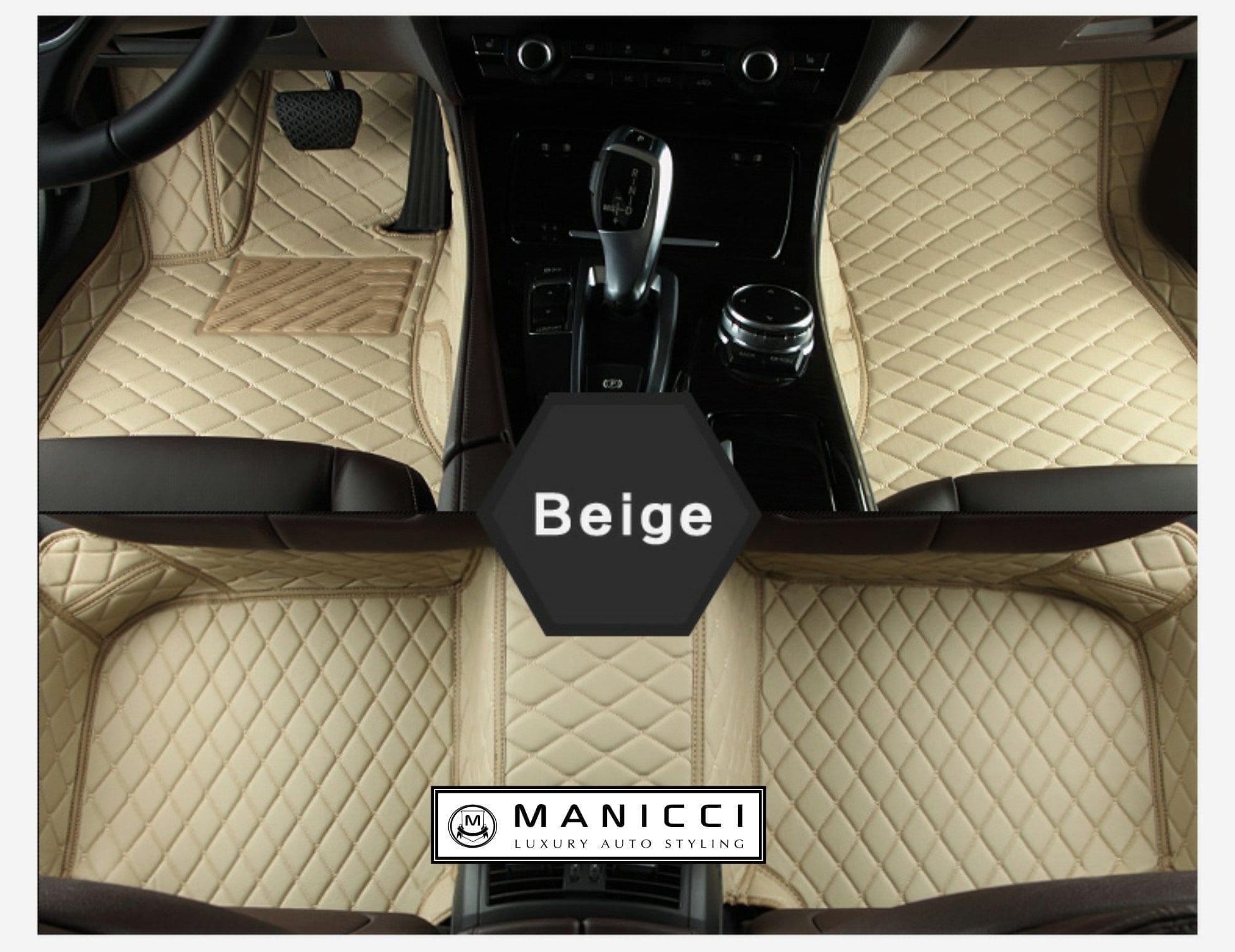 Manicci Luxury Custom Fitted Car Mats Beige Diamond