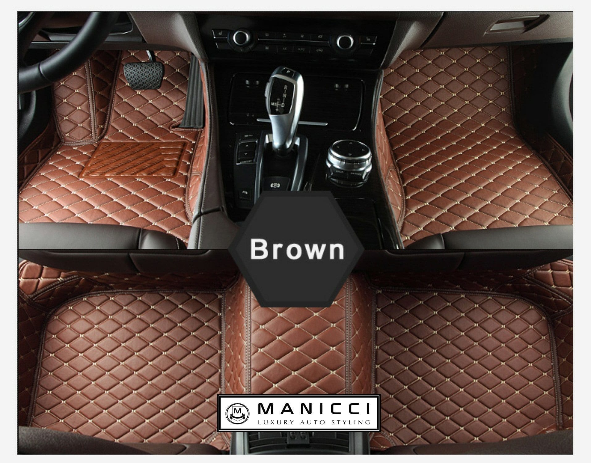 manicci luxury custom fitted car mats brown diamond free delivery usd manicci. Black Bedroom Furniture Sets. Home Design Ideas
