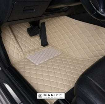 Manicci Luxury Leather Car Floor Mats Beige