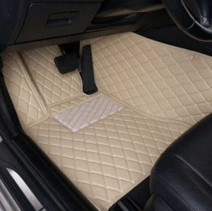 Manicci Luxury Leather Custom Fitted Car Floor Mats Beige Driver