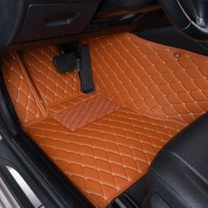 Manicci Luxury Leather Custom Fitted Car Floor Mats Brown Driver