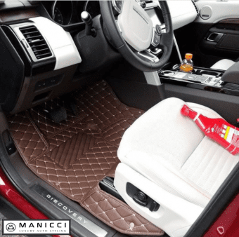 luxury car mats dark brown