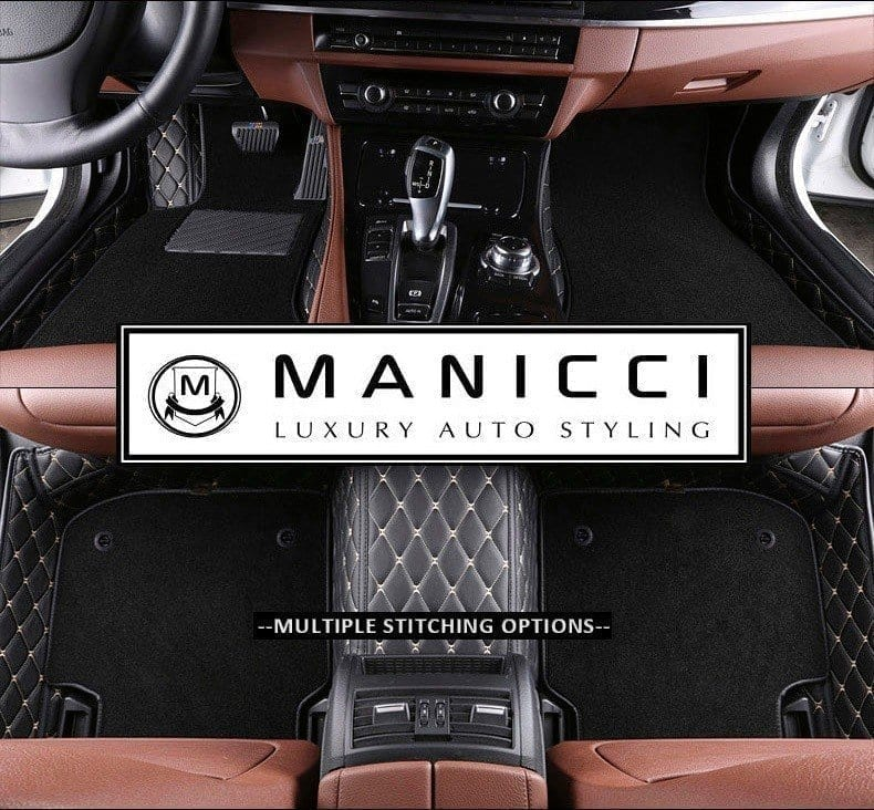Premium Manicci Luxury Custom Fitted Car Mats 2 0 Black Diamond