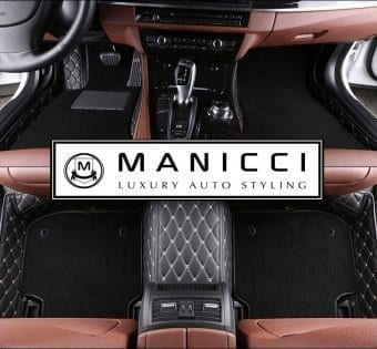 Black Premium Manicci Luxury Custom Fitted Car Floor Mats 2.0