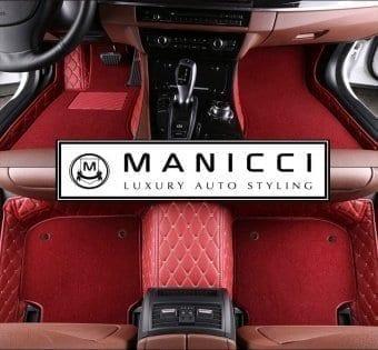 luxuryleatherredcarfloormatspremiummanicci