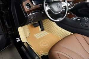 Manicci Luxury Car Floor Mats Premium Beige 4