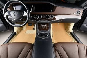 Manicci Luxury Car Floor Mats Premium Beige 5