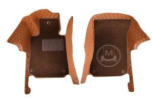 Manicci Luxury Car Floor Mats Premium Brown 3 (2)
