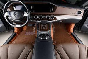 Manicci Luxury Car Floor Mats Premium Brown 5