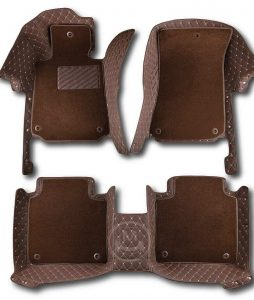 Manicci Luxury Car Floor Mats Premium Dark Brown 2 (2)