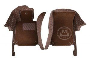 Manicci Luxury Car Floor Mats Premium Dark Brown 3