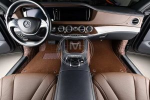 Manicci Luxury Car Floor Mats Premium Dark Brown 4