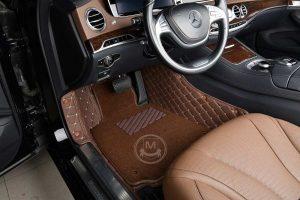 Manicci Luxury Car Floor Mats Premium Dark Brown 6