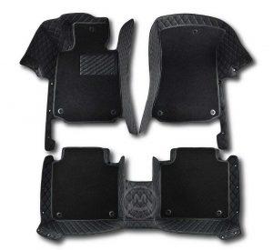 Premium Manicci Luxury Car Floor Mats black with black 2