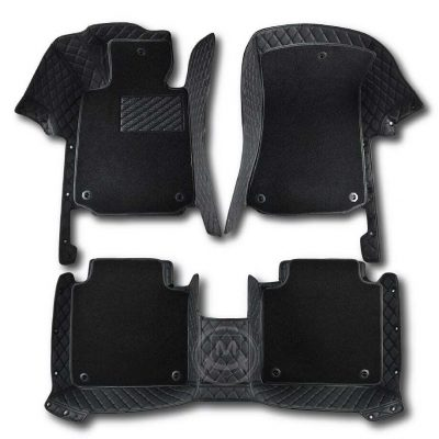 Premium Manicci Luxury Car Floor Mats black with black 2