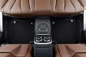 Premium Manicci Luxury Car Floor Mats black with black 3