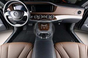 Premium Manicci Luxury Car Floor Mats black with black 4
