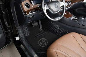 Premium Manicci Luxury Car Floor Mats black with black 5