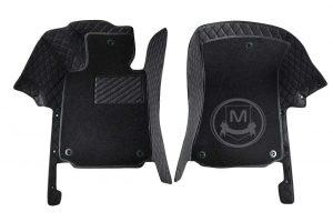 Premium Manicci Luxury Car Floor Mats black with black 7