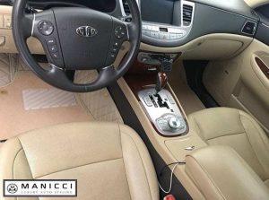 Premium Manicci Luxury Leather Car Mats Beige