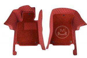 Manicci Luxury Car Floor Mats Premium Racing Red 2