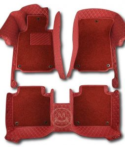 Manicci Luxury Car Floor Mats Premium Red Red 1
