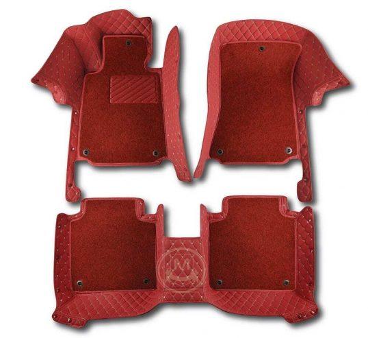 Manicci Luxury Car Floor Mats Premium Red Red 1