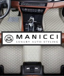 Manicci Luxury Leather Custom Fitted Car Floor Mats Grey