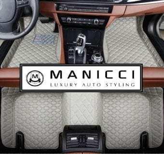 Manicci Luxury Leather Custom Fitted Car Floor Mats Grey