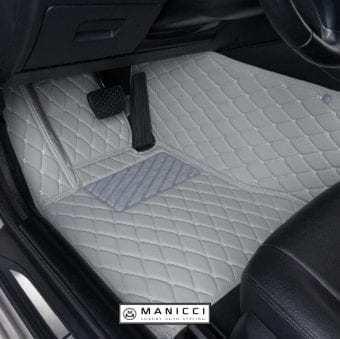 Manicci Luxury Leather Car Floor Mats Grey