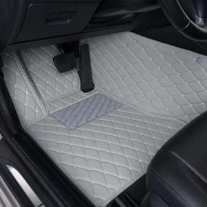 Manicci Luxury Leather Custom Fitted Car Floor Mats Grey Driver