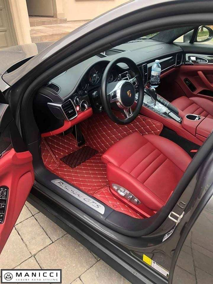 Manicci Luxury Custom Fitted Car Mats Red Diamond