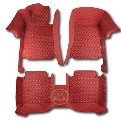 Manicci Luxury Car Floor Mats Red 1