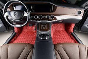 Manicci Luxury Car Floor Mats Red 2