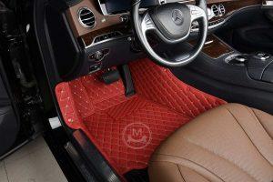 Manicci Luxury Car Floor Mats Red 4
