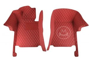 Manicci Luxury Car Floor Mats Red 5