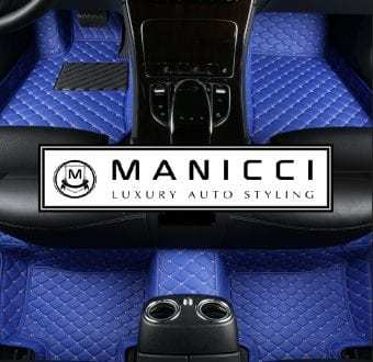 Blue Luxury Car Mats