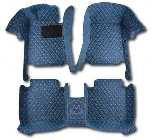 Manicci Luxury Car Floor Mats Blue 1